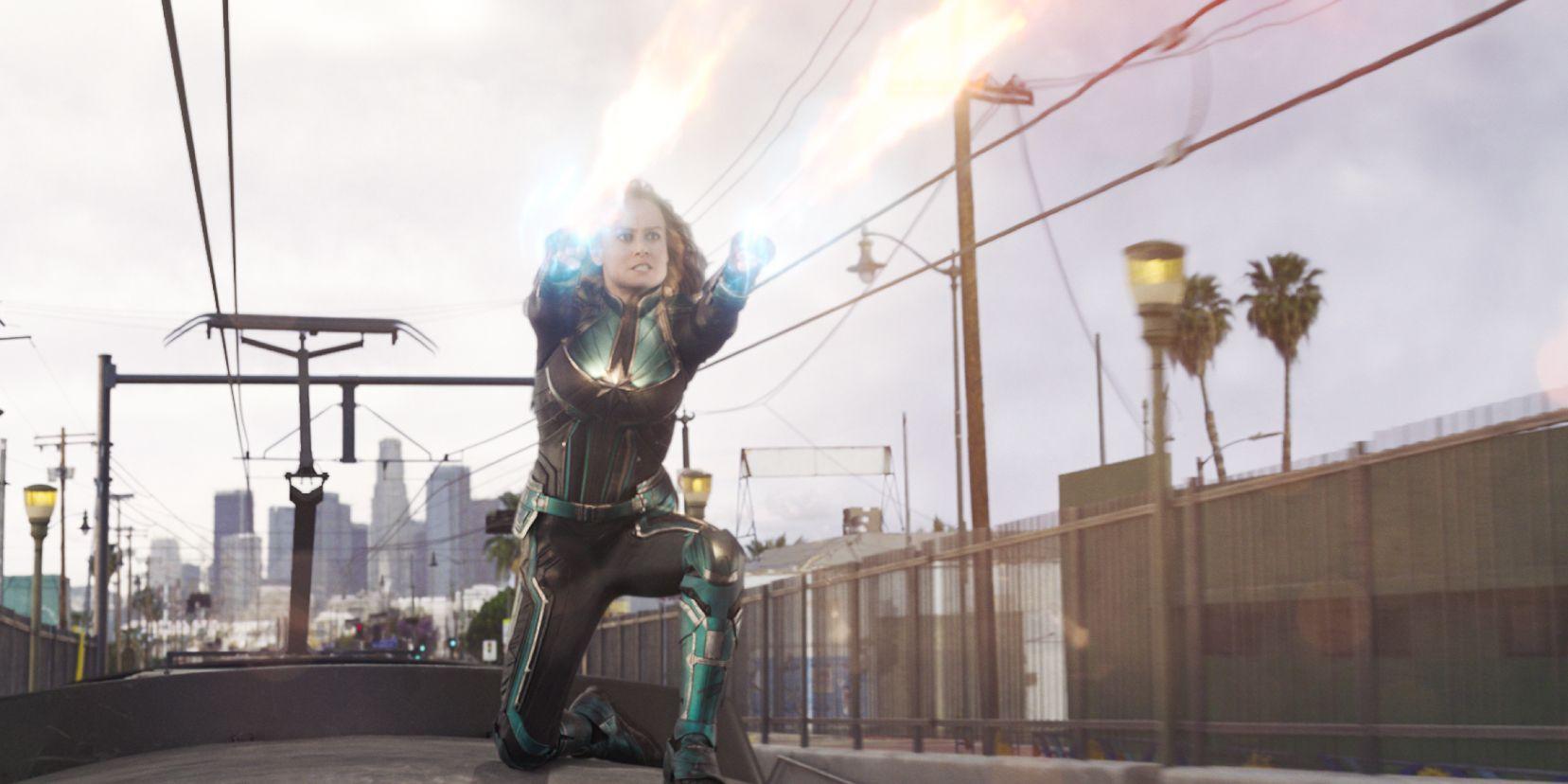 La Capitana Marvel, Carol Danvers (Brie Larson), en una escena de Capitana Marvel.
