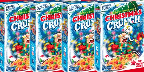 Christmas Crunch Cereal.Limited Edition Christmas Cap N Crunch Is Back In Stores For