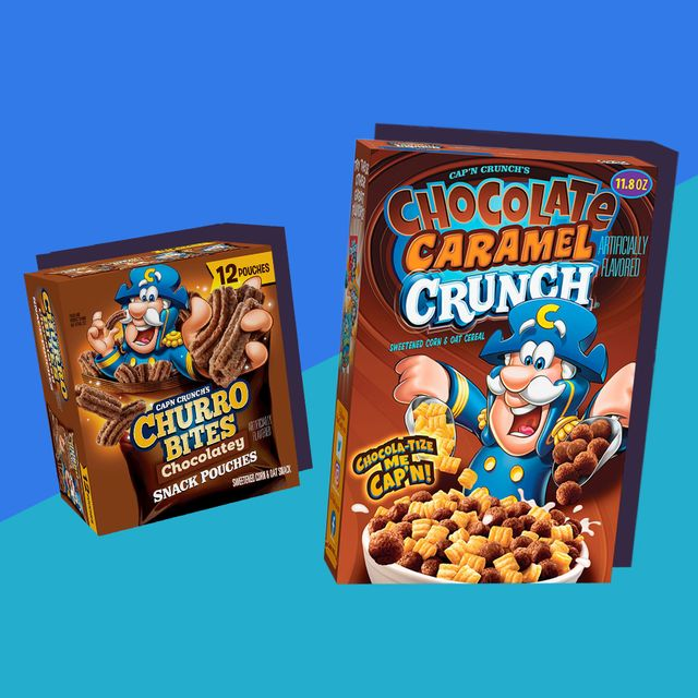 capn crunch chocolate caramel cereal box churro bites snack