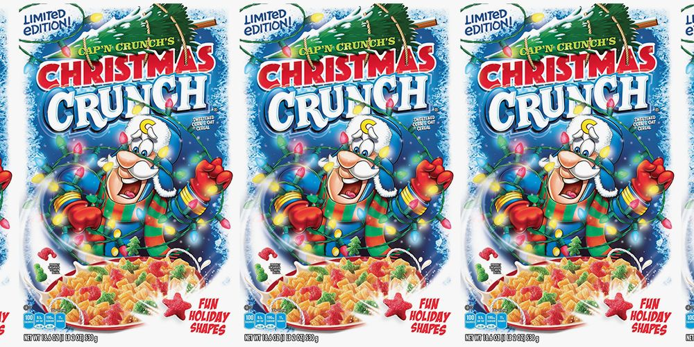 Christmas Crunch Cereal.Cap N Crunch S Christmas Crunch Cereal Guarantees A Holly Jolly Breakfast