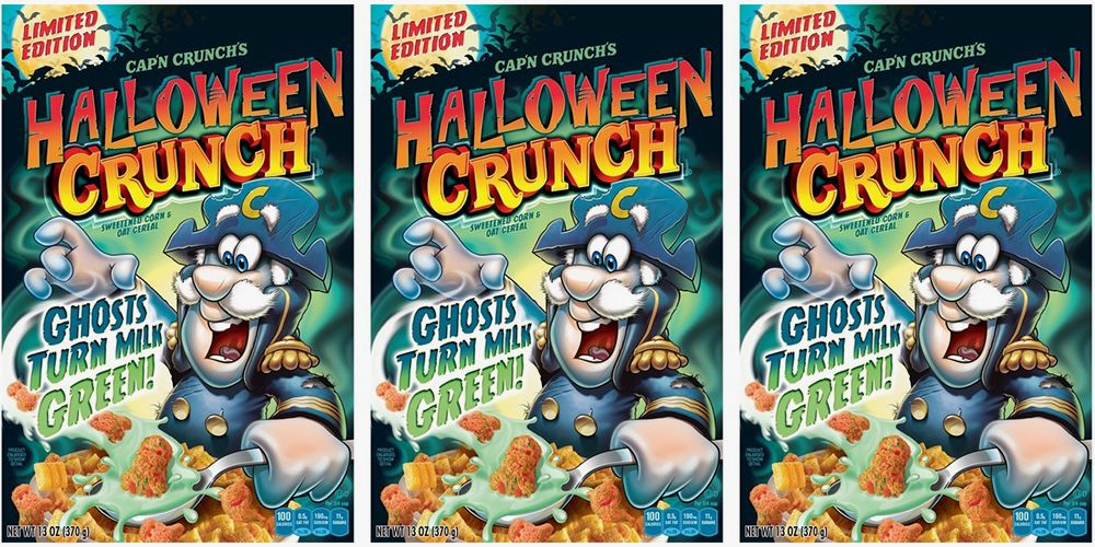 Cap'n Crunch's Halloween Crunch Cereal Will Turn Your Milk a Ghoulish Green