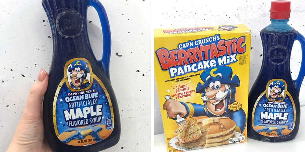 Cap'n Crunch Is Releasing Ocean Blue Maple Syrup That Will Brighten Up Any Pancake Stack