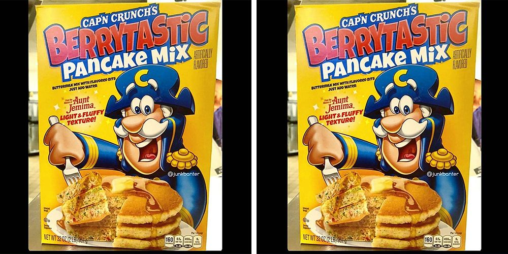 Cap N Crunch S New Berrytastic Pancake Mix Is Filled With Cereal Pieces Did you scroll all this way to get facts about oops all berries? berrytastic pancake mix