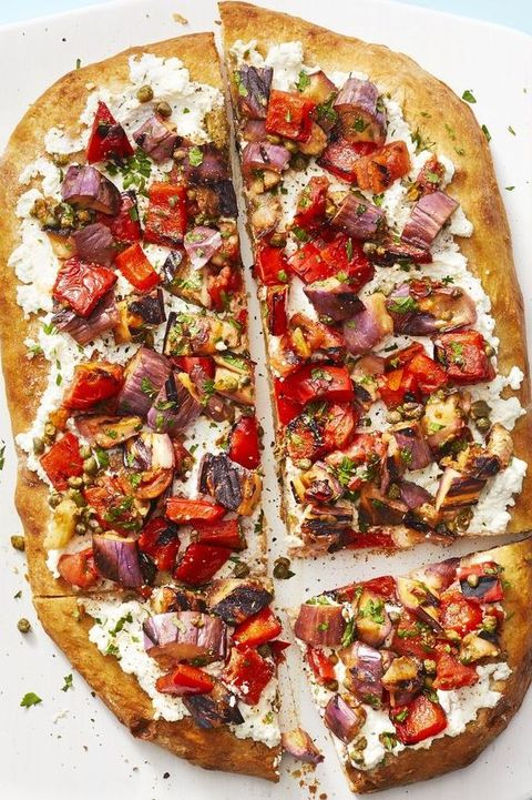 new year's eve appetizers   caponata flatbread