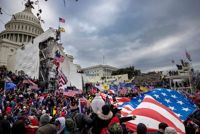 washington dc, usa   january 6 trump supporters clash with police and security forces as people try to storm the us capitol in washington dc on january 6, 2021 demonstrators breeched security and entered the capitol as congress debated the 2020 presidential election electoral vote certification photo by brent stirtongetty images