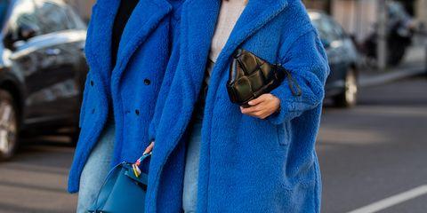 Blue, Cobalt blue, Street fashion, Clothing, Electric blue, Jeans, Denim, Fashion, Outerwear, Coat,
