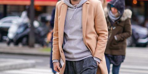 Clothing, Street fashion, Fashion, Outerwear, Jacket, Snapshot, Jeans, Pink, Coat, Neck,