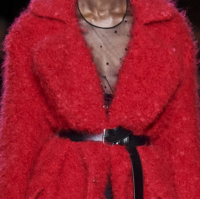 Fur, Clothing, Fur clothing, Outerwear, Red, Fashion, Woolen, Wool, Coat, Textile,
