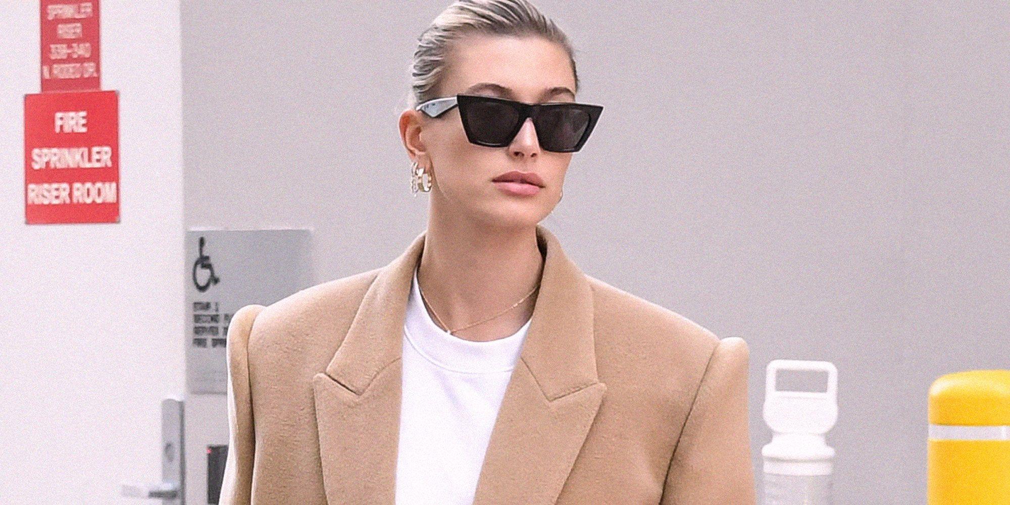 Cappotto inverno 2020, cammello come Hailey Baldwin è moda chic
