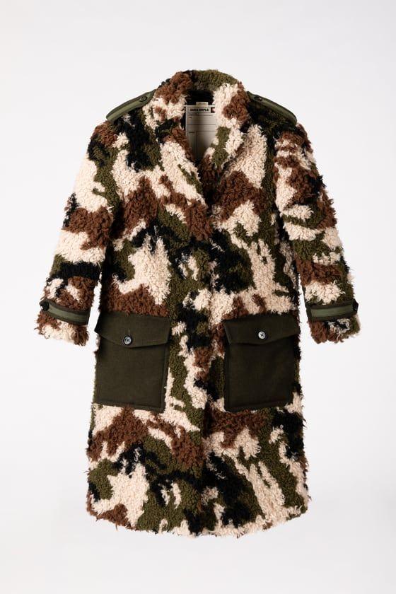 Cappotto inverno 2019, quello mimetico di Zara pura moda