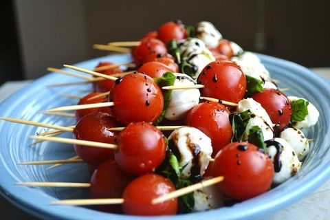 stuck on sweet recette de brochettes de salade caprese