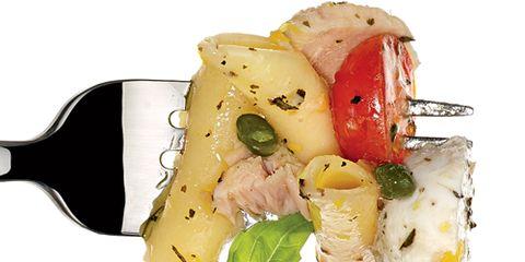 Tuna Caprese closeup