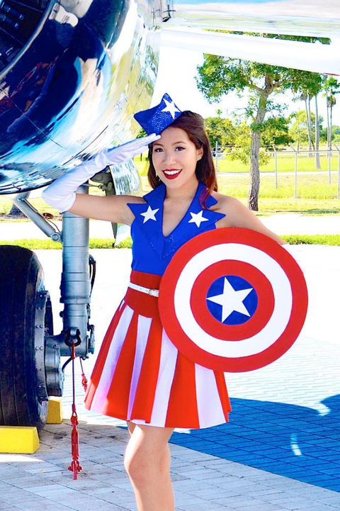 captain america womens costume the avengers