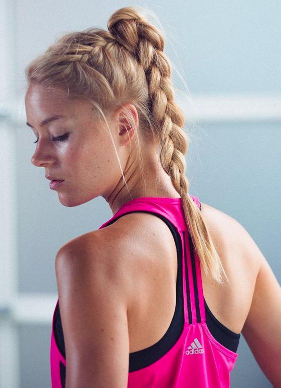 Peinados con trenzas para el gym