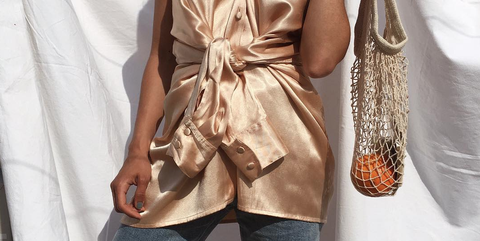 Clothing, White, Shoulder, Fashion model, Dress, Fashion, Beige, Joint, Silk, Arm,
