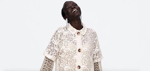 White, Clothing, Outerwear, Neck, Fashion, Sleeve, Button, Top, Design, Beige,