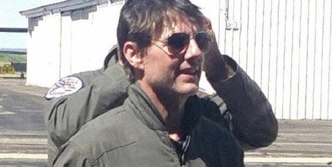 Tom Cruise en el rodaje de 'Top Gun: Maverick'