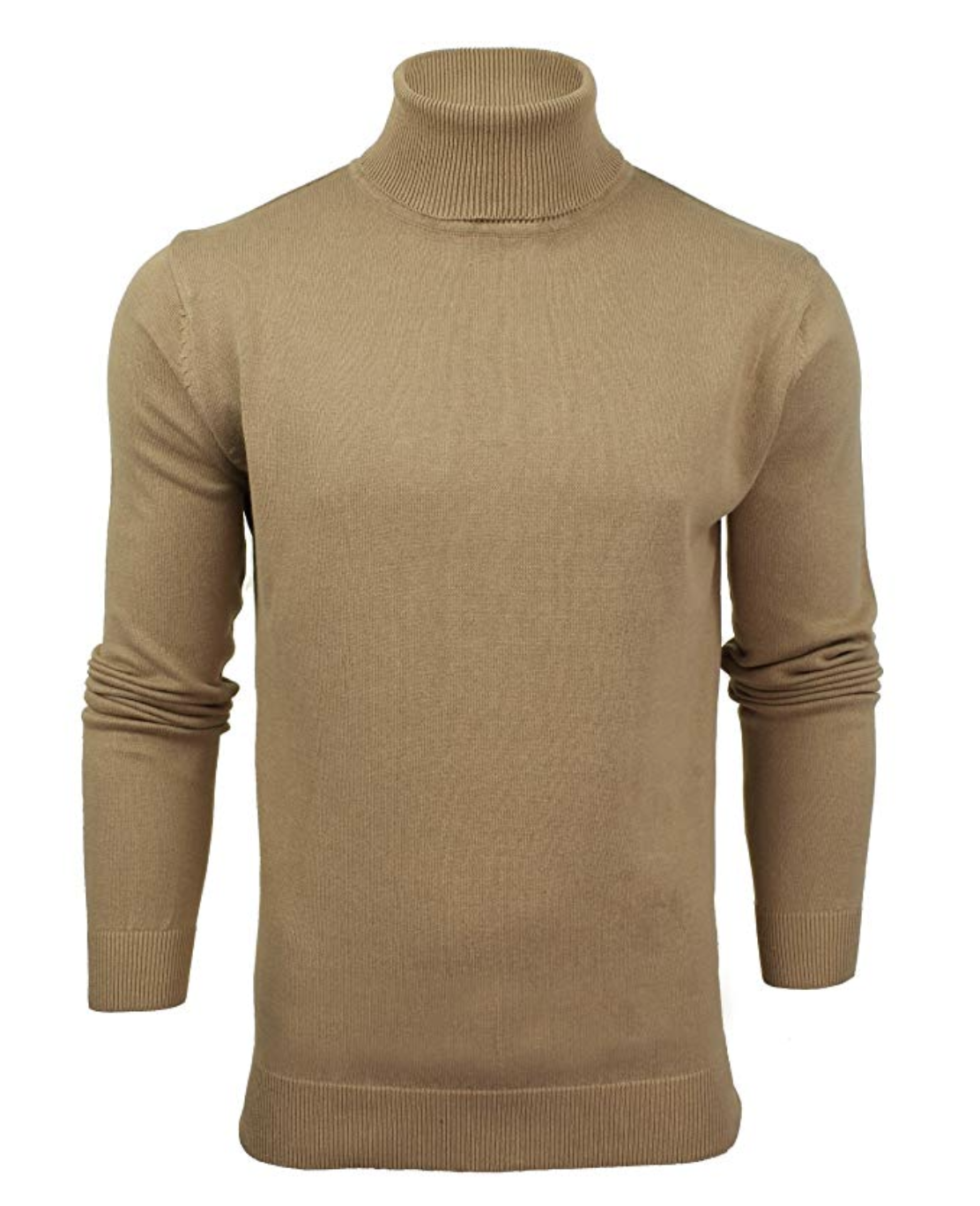 jersey cuello alto vuelto marron camel amazon