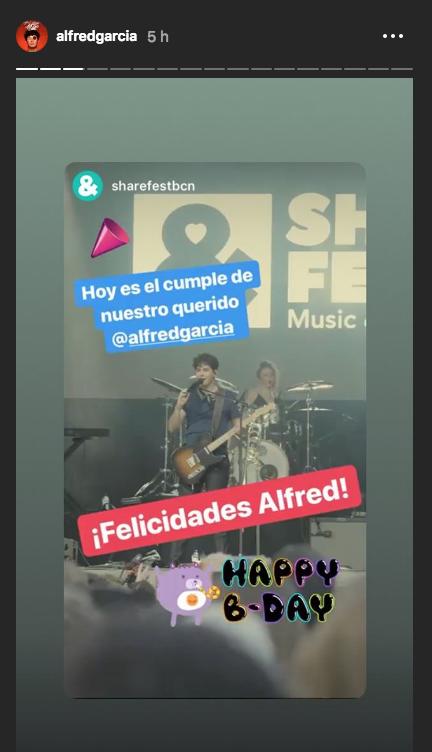 Alfred García cumple 22 años y le han felicitado