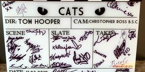 """Claqueta de fin de rodaje de """"Cats"""""""