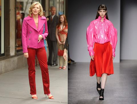 Fashion model, Fashion, Clothing, Runway, Pink, Red, Fashion show, Street fashion, Magenta, Footwear,