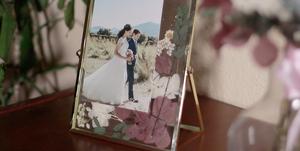 Un recordatorio de boda DIY