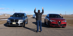 BMW X3 M vs Alfa Romeo Stelvio Quadrifoglio vs Tesla Model X