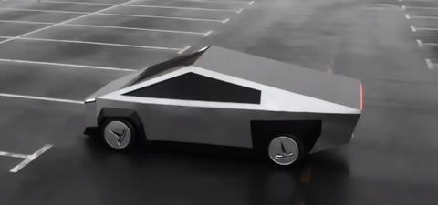 Tesla Cybertruck replica rusa con Lada Samara
