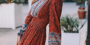 shoppingvestidos largos de invierno de Zara y H&M