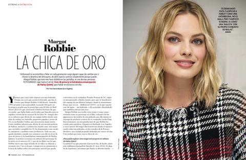 Margot Robbie en el número de febrero de FOTOGRAMAS