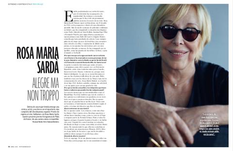 Rosa María Sardá en el número de abril de FOTOGRAMAS