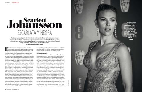 Scarlett Johansson en el número de abril de FOTOGRAMAS