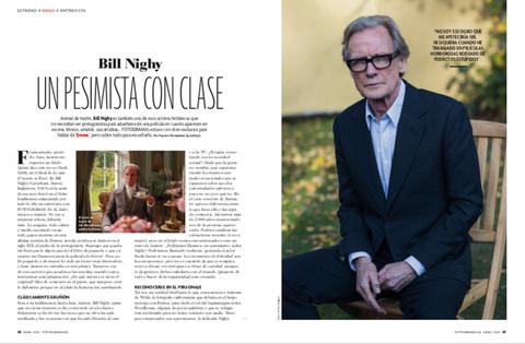 Bill Nighy en el número de abril de FOTOGRAMAS
