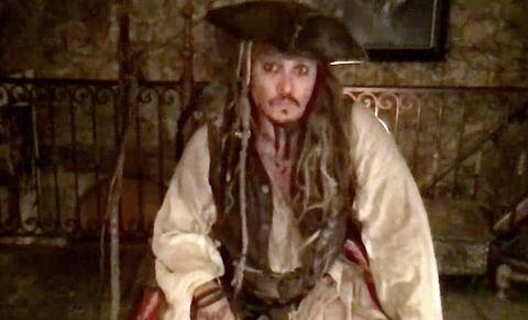 """johnny depp como jack sparrow de """"piratas del caribe"""""""