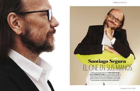 santiago segura en el número de agosto de 2020 de fotogramas
