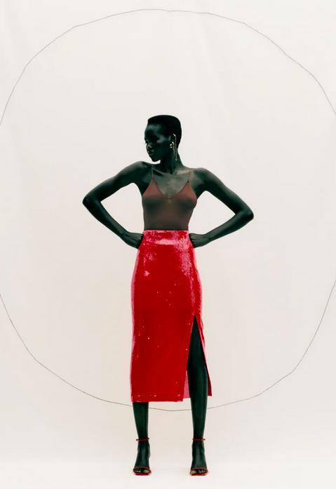 nueva ropa zara color rojo reina letizia