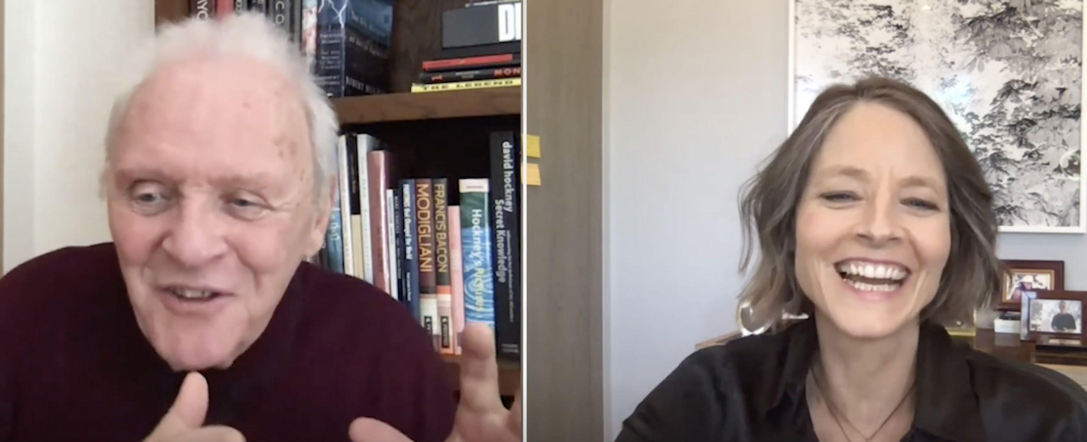 El silencio de los corderos': Anthony Hopkins y Jodie Foster se reencuentran 30 años después