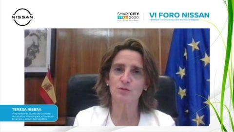 teresa ribera, vicepresidente cuarta y ministra para la transición ecológica en el vi foro nissan