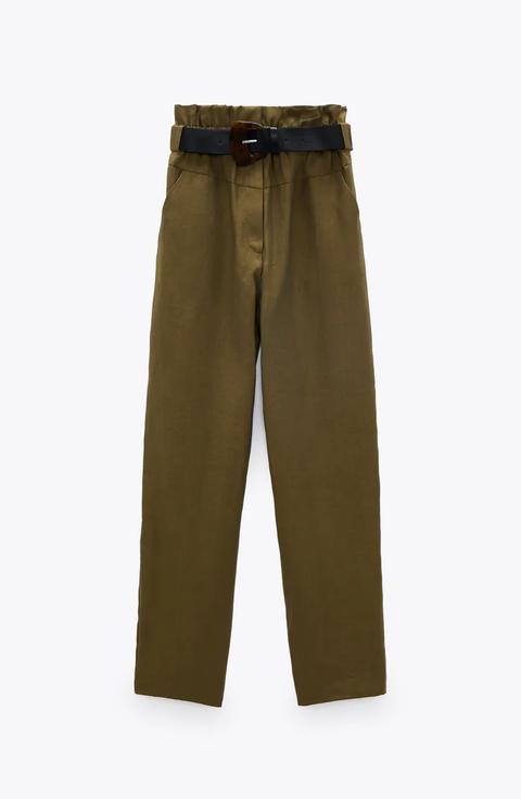 pantalon cinturon zara