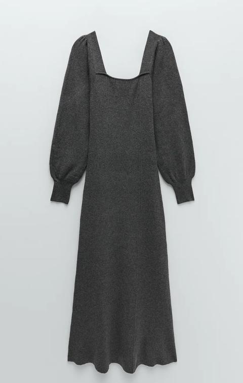 vestido de punto zara