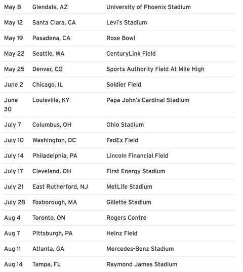 Taylor Swift S Reputation Tour U S Dates Announced Taylor Swift Concert Dates
