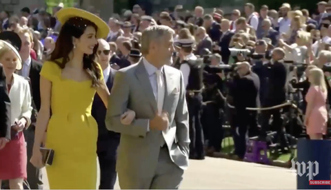 George and Amal Clooney at the Royal Wedding Capture-d-e-cran-2018-05-19-a-5-28-09-am-1526722263