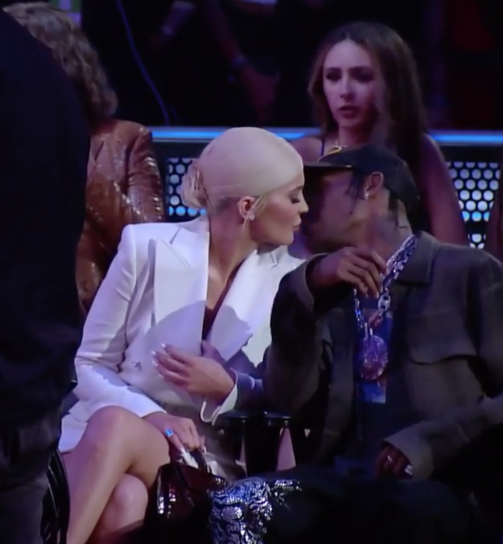 Kylie Jenner and Travis Scott Had a Sneaky Kiss at the MTV VMAs