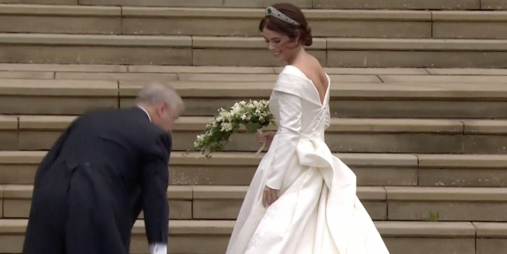 The First Full Look of Princess Eugenie's Peter Pilotto Royal Wedding Dress Is Here