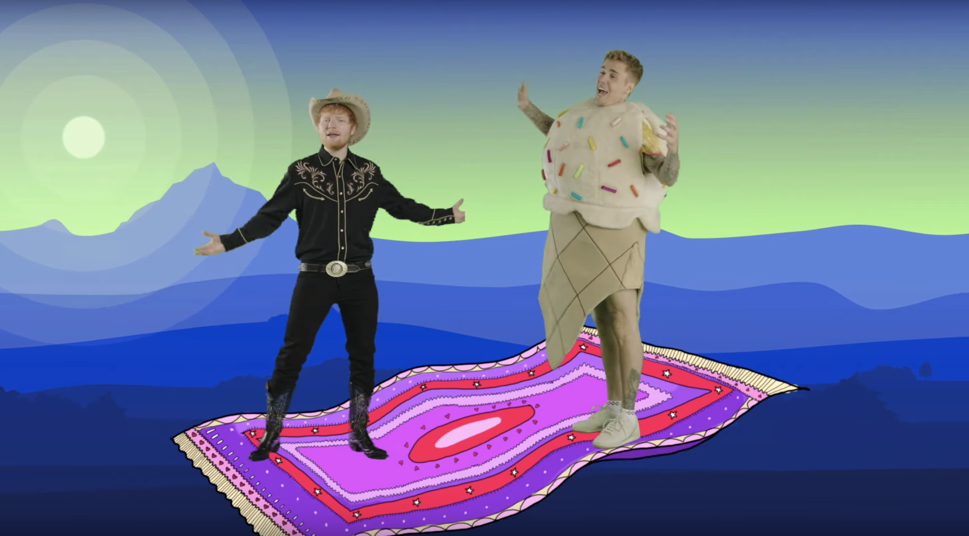 Justin Bieber and Ed Sheeran's 'I Don't Care' Music Video Is the Trippiest Thing