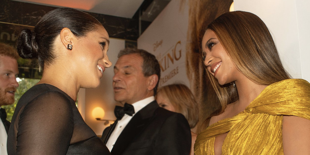 Beyoncé and Meghan Markle Were Both 'Nervous' to Meet Each Other at 'The Lion King' Premiere