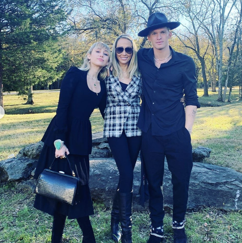 Miley Cyrus, Tish Cyrus, and Cody Simpson