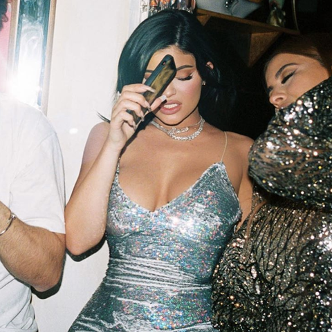 Kylie Jenner Halloween 2020 Kylie Jenner's 'When the Tequila Hits' NYE Party Photo Is a Mood