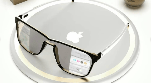 a mockup of what apple glass could look like