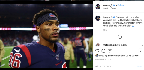the first owens instagram that biles liked